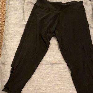 Cropped Black Victoria's Secret Sport Leggings